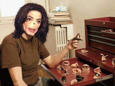 Michael Jackson tauscht Gesichtsmerkmaleaus