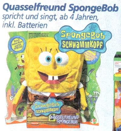Quasselfreund SpongeBob - spricht und singt, ab 4 Jahren, inkl. Batterien