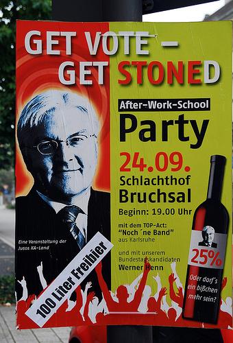 Get Vote Get Stoned Eine Veranstaltung der Jusos KA-Land