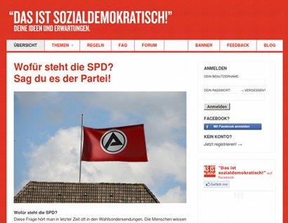 Screenshot der Website 'Das ist sozialdemokratisch' vom 6. Juni 2011