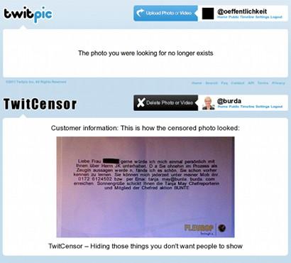 Screenshot des aufregenden neuen Dienstes (für Besitzende) von TwitPic