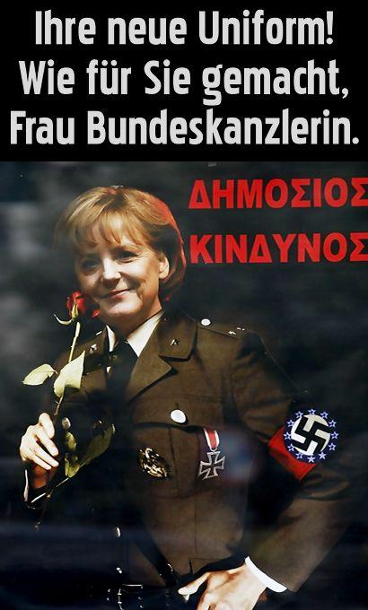 Ihre neue Uniform! Wie für Sie gemacht, Frau Bundeskanzlerin.