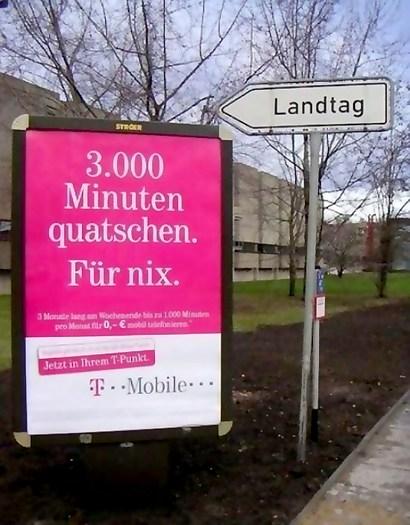 3000 Minuten Quatschen. Für nix. Landtag