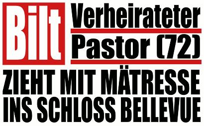 Verheirateter Pastor (72) zieht mit Mätresse ins Schloss Bellevue