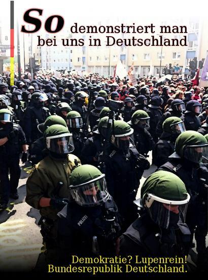 So demonstriert man bei uns in Deutschland
