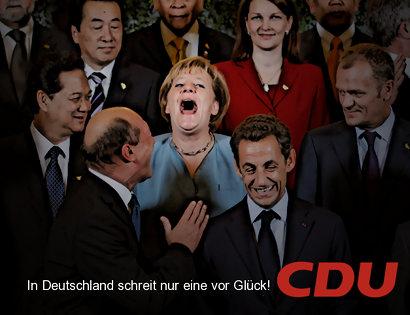 In Deutschland schreit nur eine vor Glück! CDU