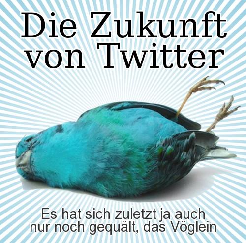 Die Zukunft von Twitter -- es hat sich zuletzt ja auch nur noch gequält, das Vöglein