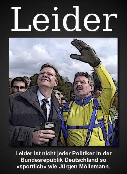 Leider ist nicht jeder Politiker in der Bundesrepublik Deutschland so sportlich wie Jürgen Möllemann