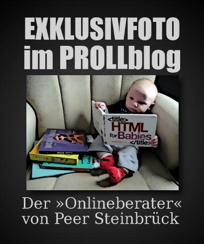 EXKLUSIVFOTO IM PROLLBLOG: Der Onlineberater von Peer Steinbrück
