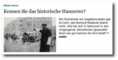 Bilderrätsel: Kennen Sie das historische Hannover?