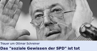 Trauer um Ottmar Schreiner: Das soziale Gewissen der SPD ist tot
