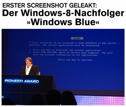 Erster Screenshot geleakt: Der Windows-8-Nachfolger Windows Blue