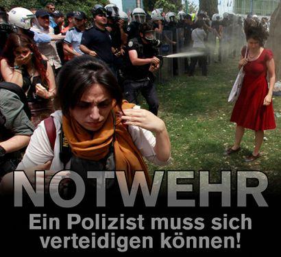 Notwehr! Ein Polizist muss sich verteidigen können!