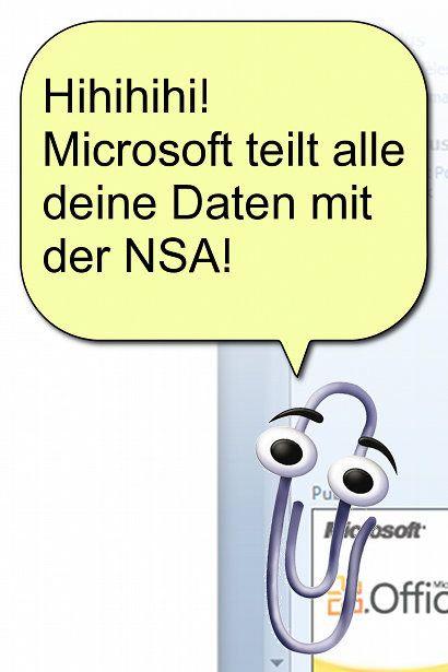 Hihihihi! Microsoft teilt alle deine Daten mit der NSA!
