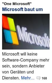 Microsoft will keine Software-Company mehr sein, sondern Anbieter von Geräten und Diensten