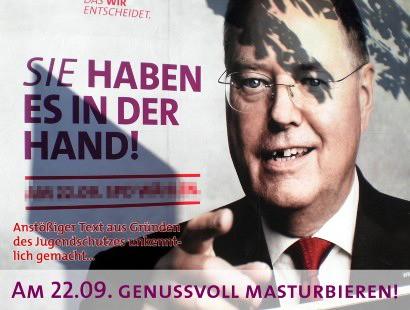 Sie haben es in der Hand. Am 22.09 genussvoll masturbieren! (Anstößiger Text aus Gründen des Jugendschutzes unkenntlich gemacht...