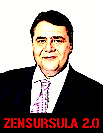 Sigmar Gabriel: Zensursula 2.0