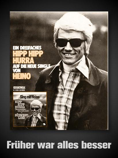 Werbung aus dem Jahr 1978 -- Ein dreifaches Hipp Hipp Hurra auf die neue Single von Heino