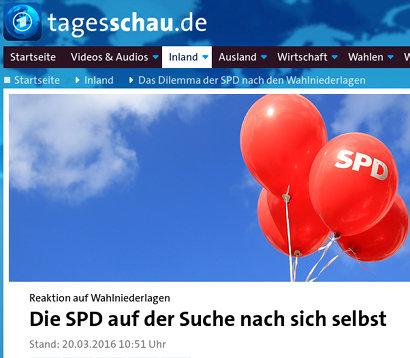 Schlagzeile tagesschau.de -- Reaktion auf Wahlniederlagen: Die SPD auf der Suche nach sich selbst