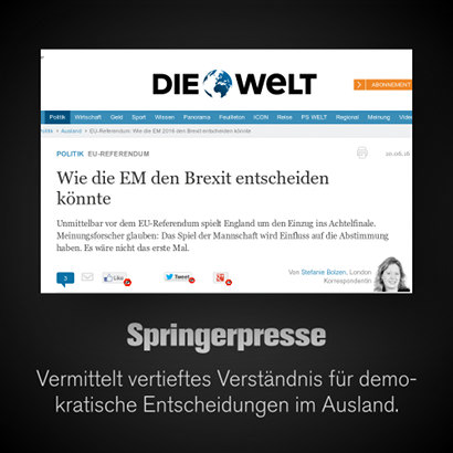 Schlagzeile Welt.de: Wie die EM den Brexit entscheiden könnte