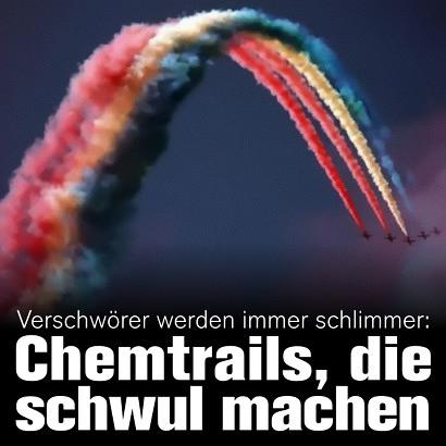 Verschwörer werden immer schlimmer: Chemtrails, die schwul machen