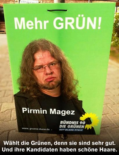 Unbeschreibliches Wahlplakat der Grünen aus dem Landtagswahlkampf in Rheinland-Pfalz