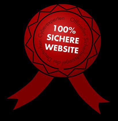 Offizielles Sicherheitssiegel der Deutschen Cyberexperten -- 100% SICHERE WEBSITE