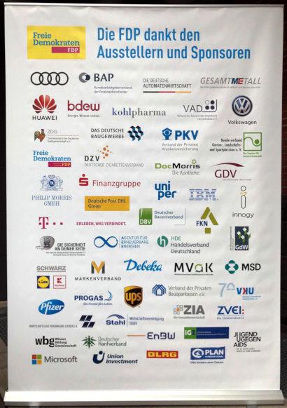 Die FDP dankt den Ausstellern und Sponsoren