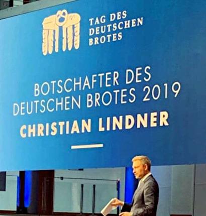 Tag des Deutschen Brotes -- Botschafter des Deutschen Brotes 2019: Christian Lindner